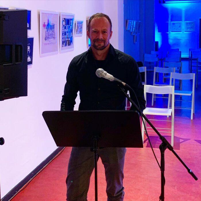 Gunther Geltinger bei der GASTfreundschaften Lesung im Literaturhaus Dortmund